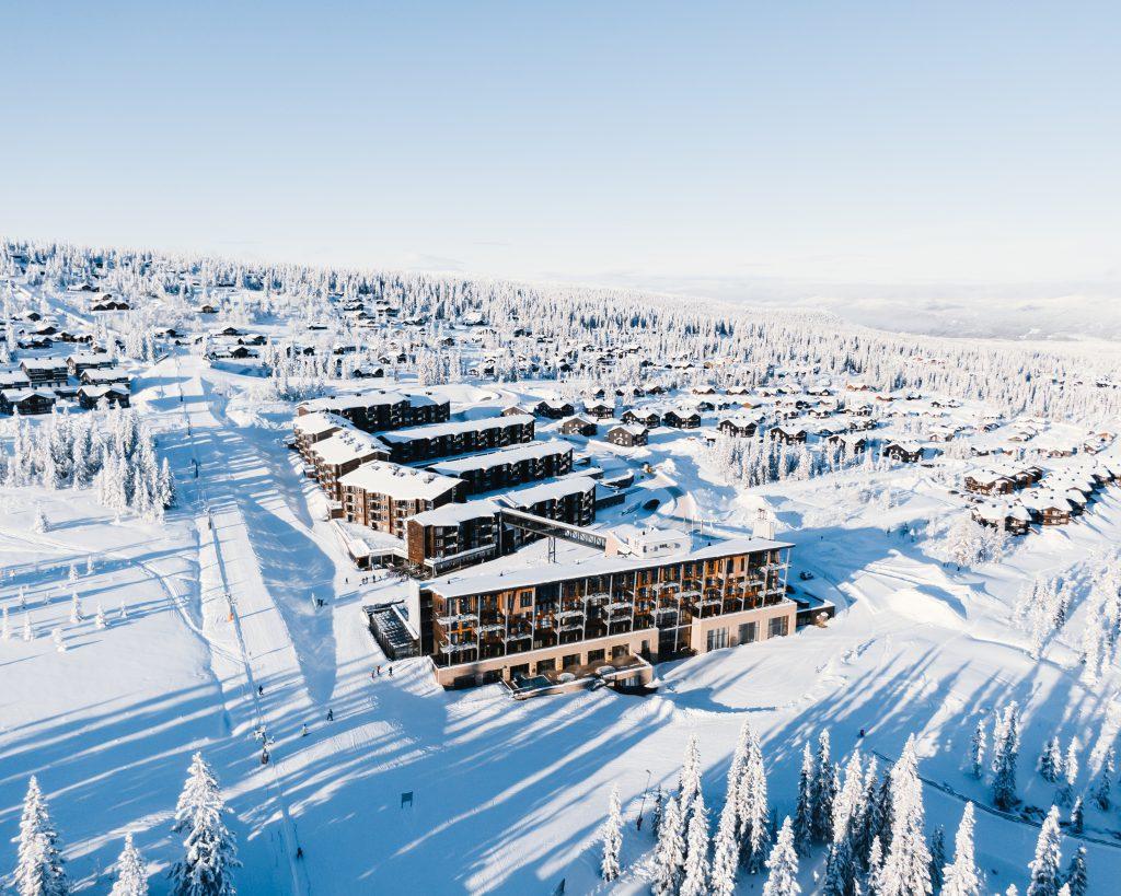Ski in ski out: Radisson Blu Mountain Resort & Residences, Trysil.