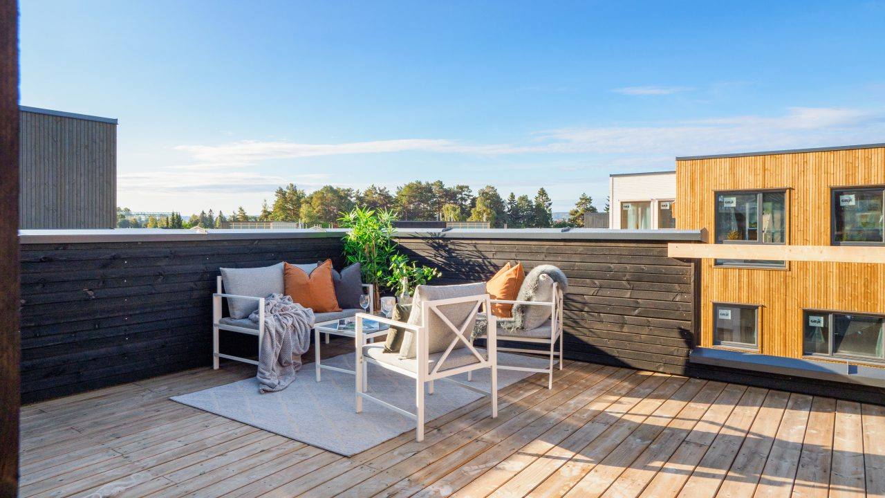 Illustrasjonsfoto terrassemiljø for boliger med loftsetasje (4)